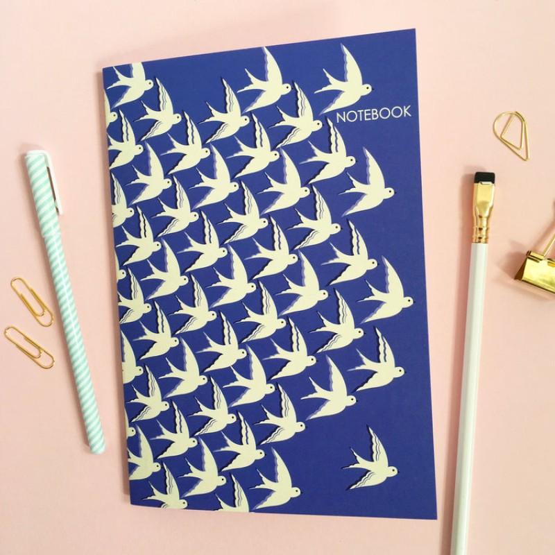 A5 'Birds in Flight' Notebook by Elvira Van Vredenburgh