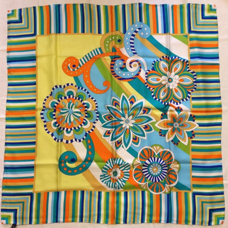 Italian Pure Silk Multicoloured Scarf