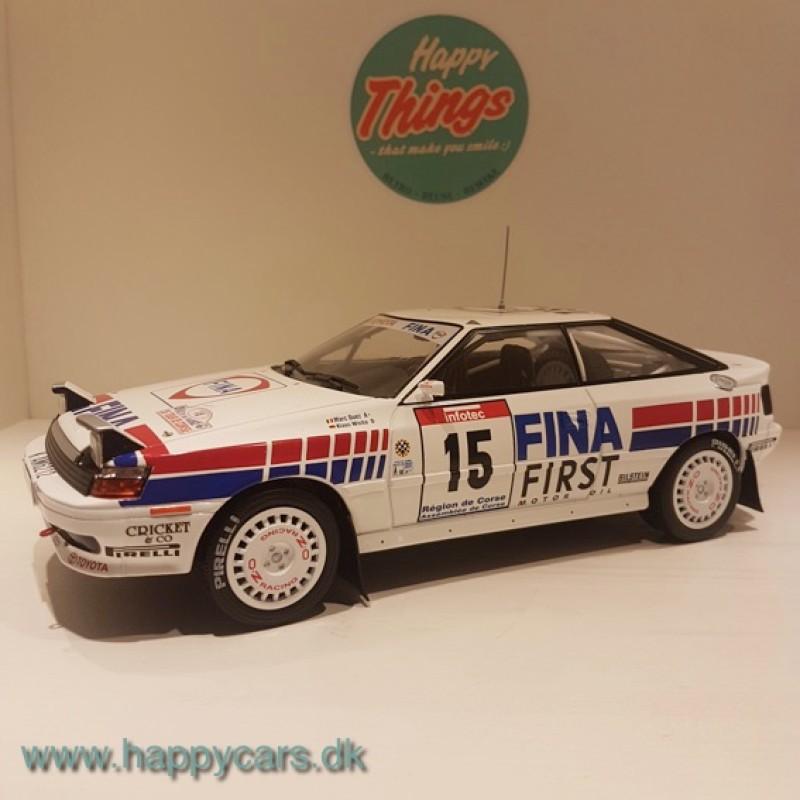 TILBUD - 1:18 Toyota Celica GT-4 ST165 FINA #15 rallybil, TRIPLE9