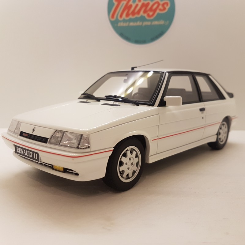 1:18 Renault 11 Turbo, Phase II, hvid, Ottomobile, limited