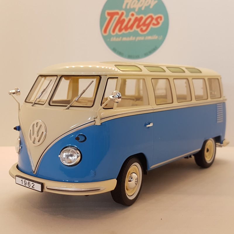 1:18 VW T1 bus, beige/blå, KK Scale, limited