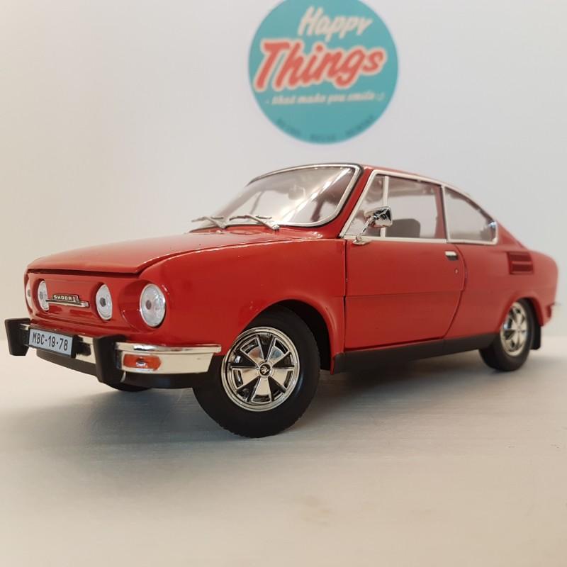 1:18 Skoda 110R Coupe, rød, Abrex