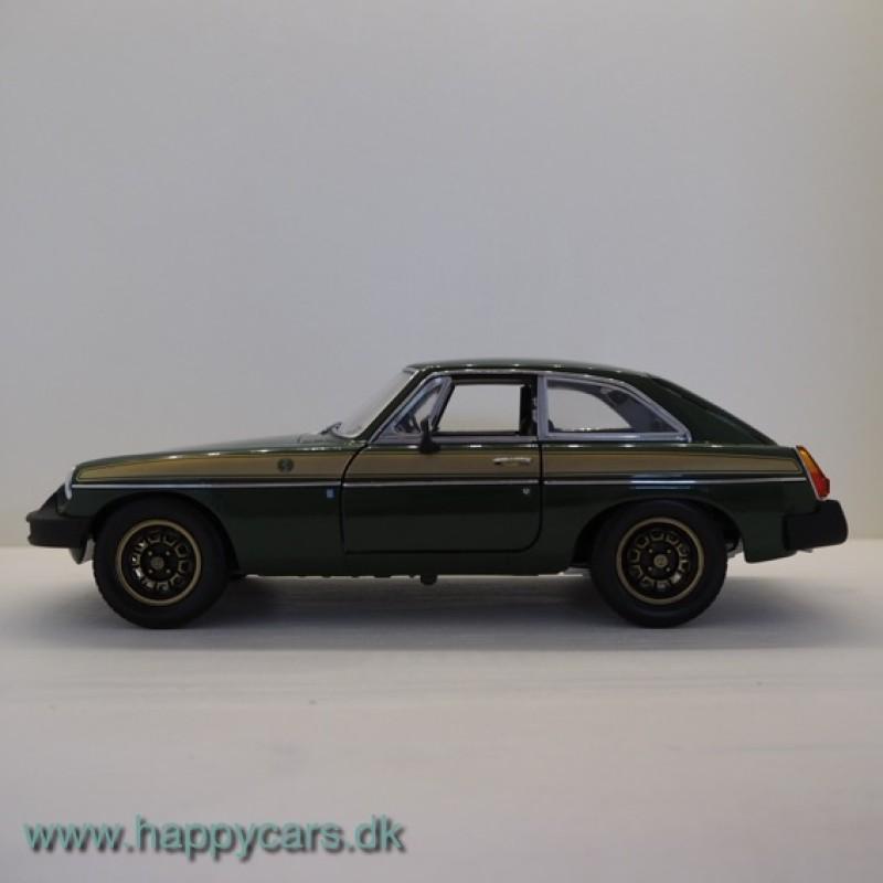 1:18 MGB GT, Jubilee Edition, grøn, Universal Hobbies (limited) RARE