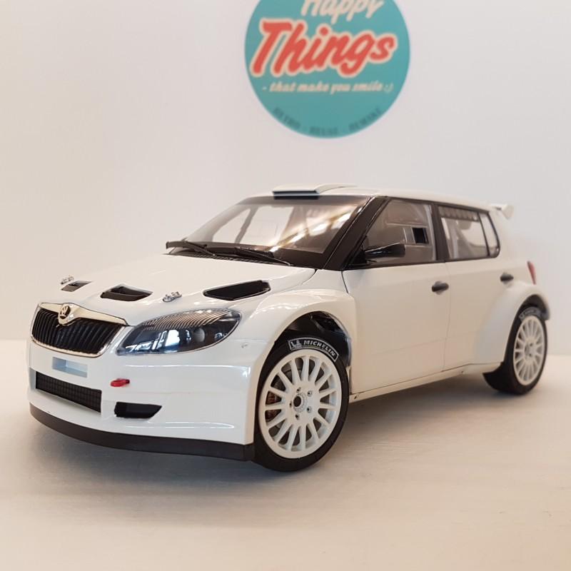 1:18 Skoda Fabia II FL S2000, hvid, med Tamac dæk, Abrex