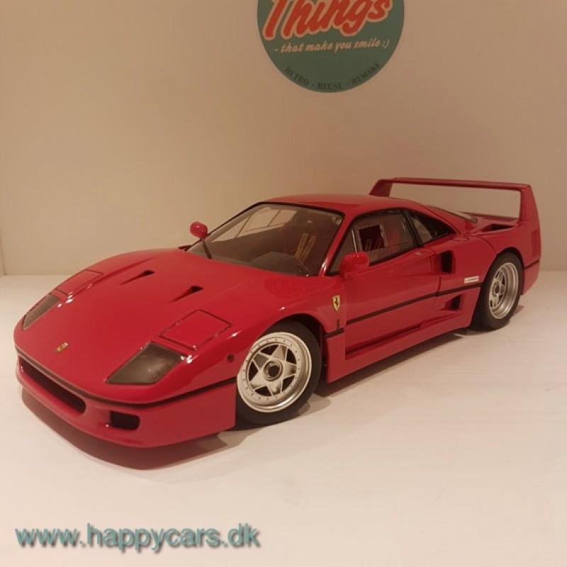 1:18 Ferrari F40, Hot Wheels Elite, som ny, brugt
