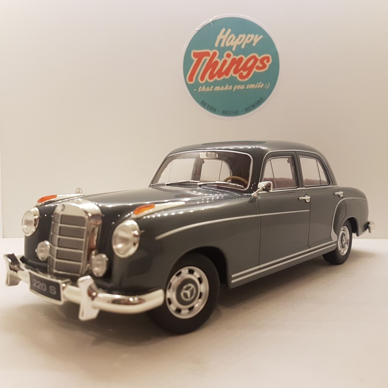 1:18 Mercedes-Benz 220S W180II, grå, KK Scale, limited edition
