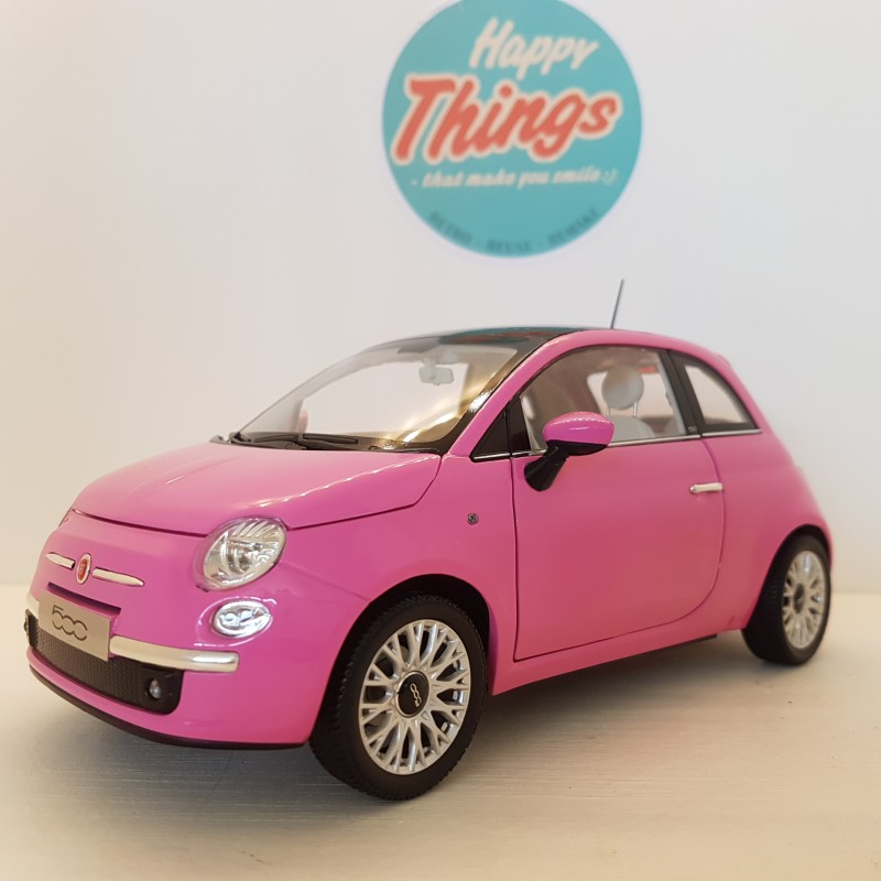 1:18 Fiat 500, 2009, lyserød, Norev