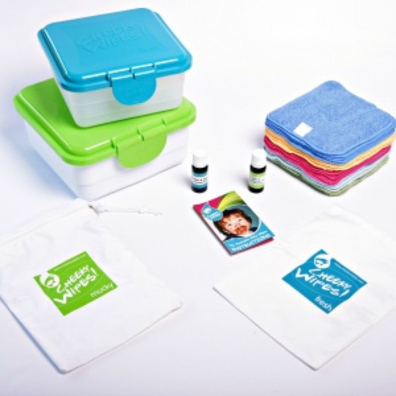 Cheeky wipes-all in one baby wipe kit- organic cotton rainbow