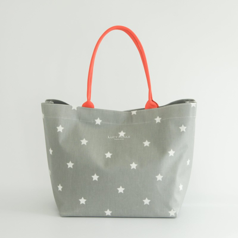 9fb473afe39e Grey   White Star Medium Tote Bag
