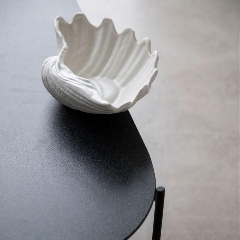 Skjell skål, hvit