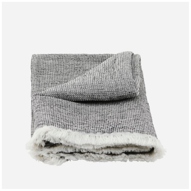 Håndkle, bomull/lin str 140x70 cm
