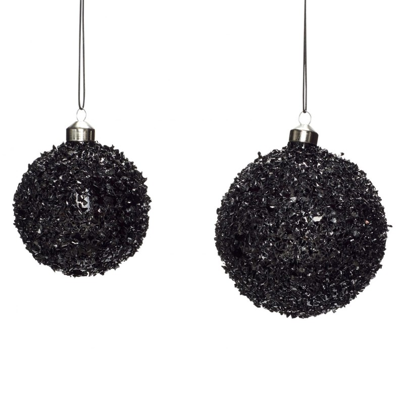 Julekuler, sort med struktur