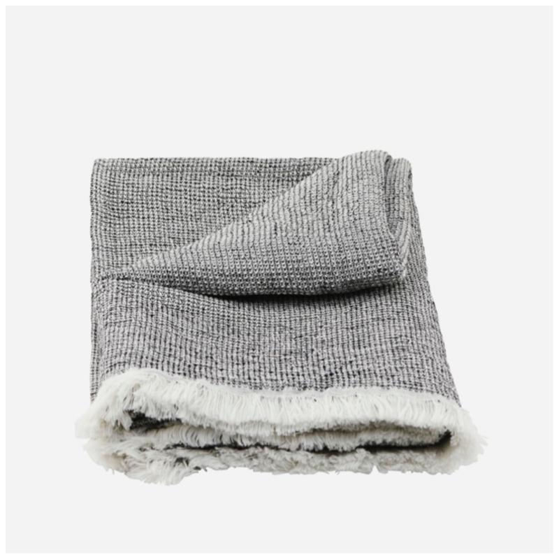 Håndkle i bomull/lin, 100x50 cm