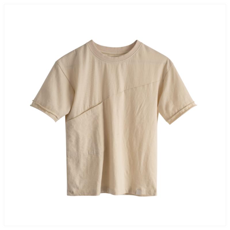 Loke t-skjorte i organisk bomull, sand