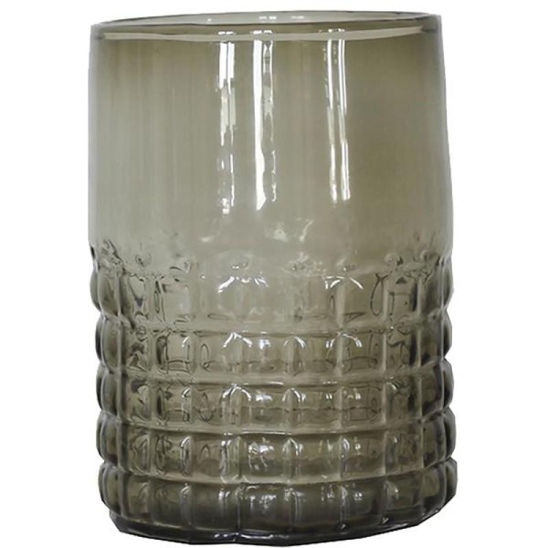 Glass-lykt, grå/grønn