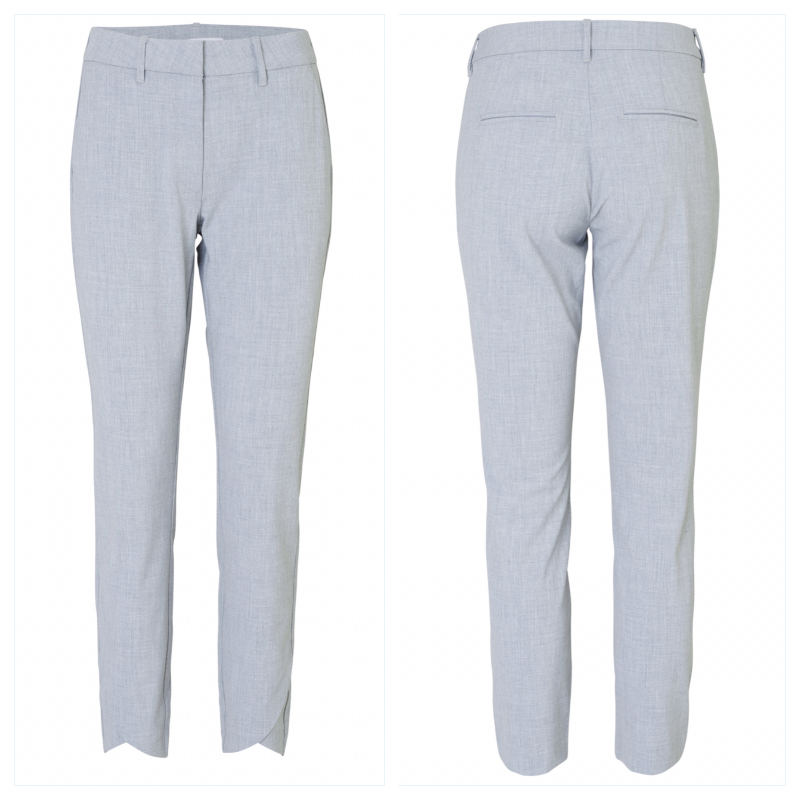 Carine bukse fra 2nd one, lys grå