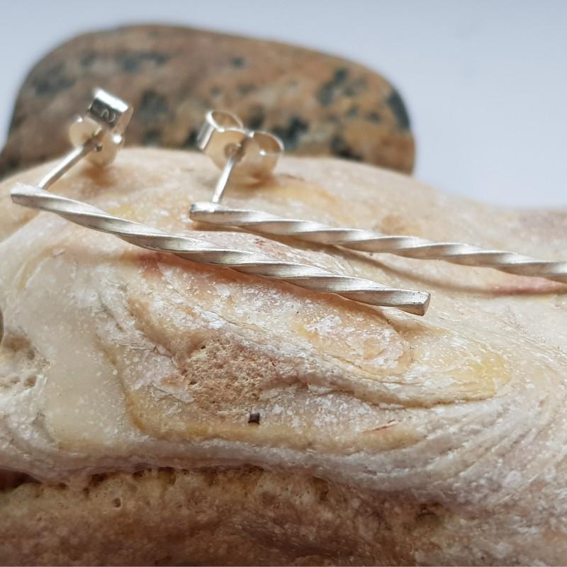 Sterling silver 30mm twist earrings