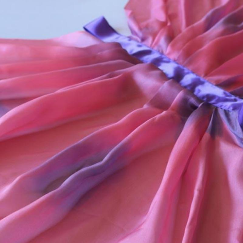 Silkevinger i rosa og lilla