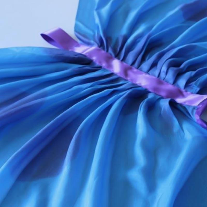 Silkevinger i blå og lilla