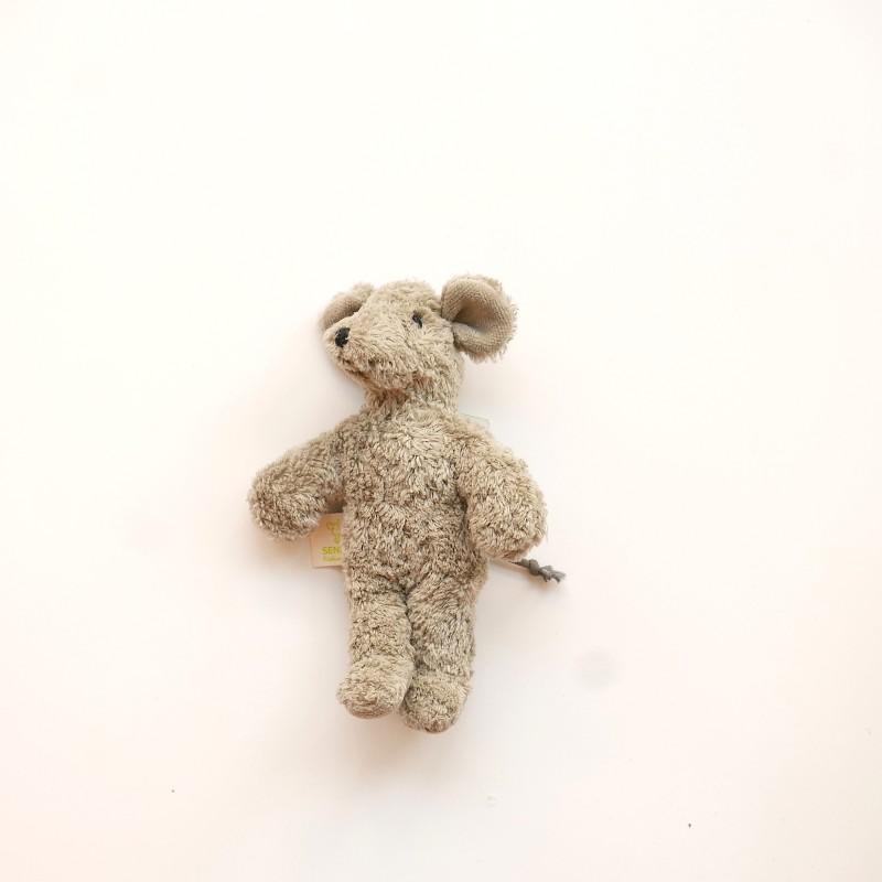 Senger - Lys mini mus i økologisk bomull og ull