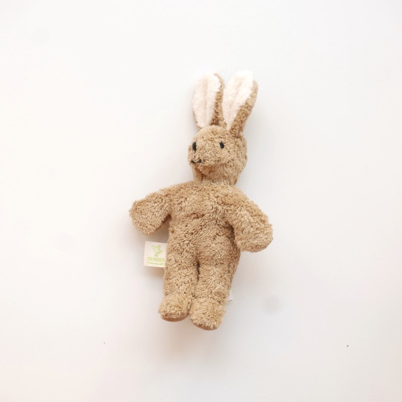 Senger - Lys brun mini kanin i økologisk bomull og ull