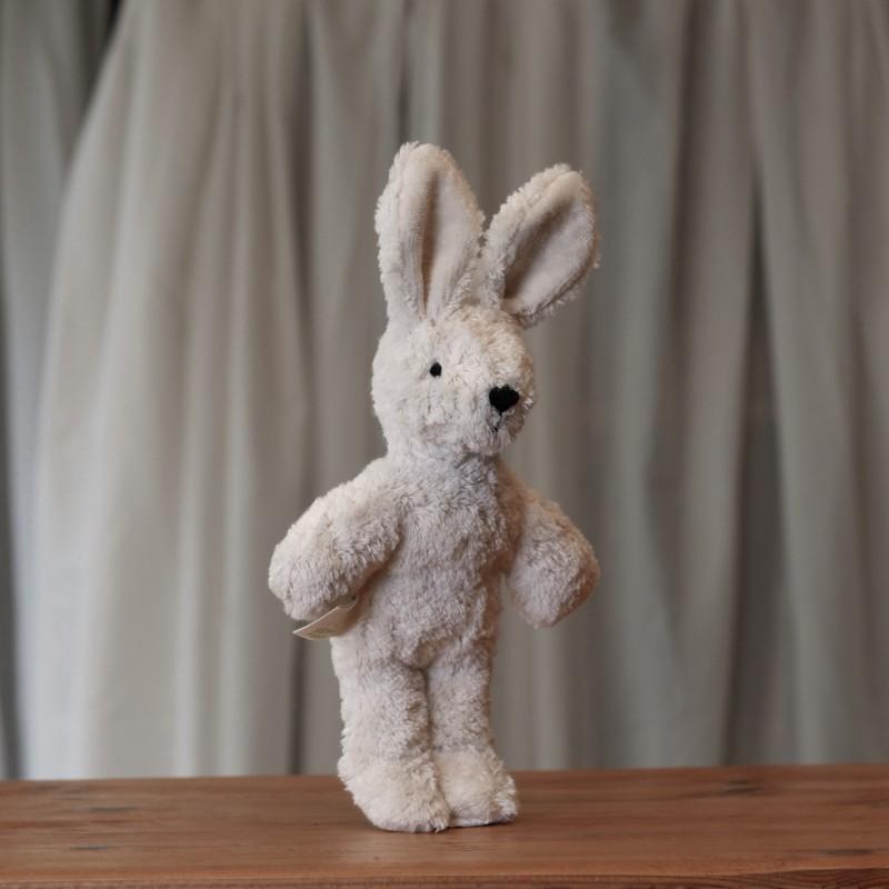 Lys mini kanin i økologisk bomull og ull