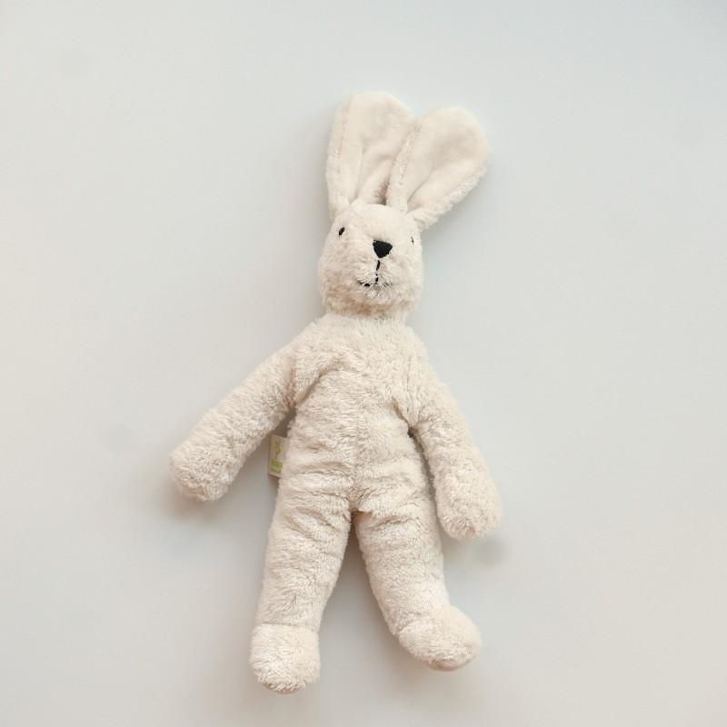 Senger - Lys liten kanin i bomull og ull