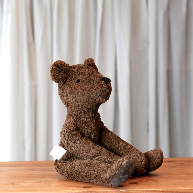 Brun stor bjørn i økologisk bomull og ull