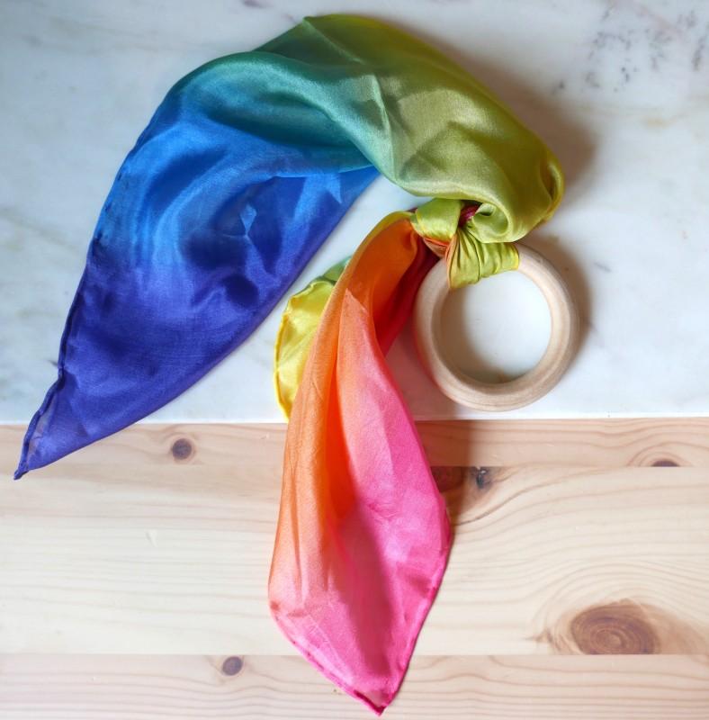 Sarahs silks - Regnbue bitering med silke