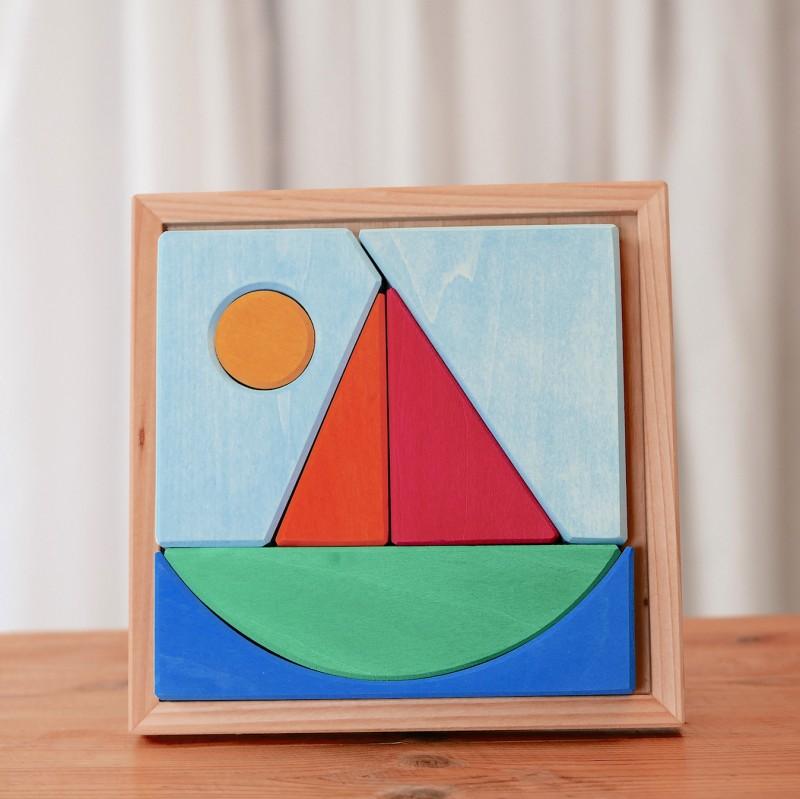Båtpuslespill i tre