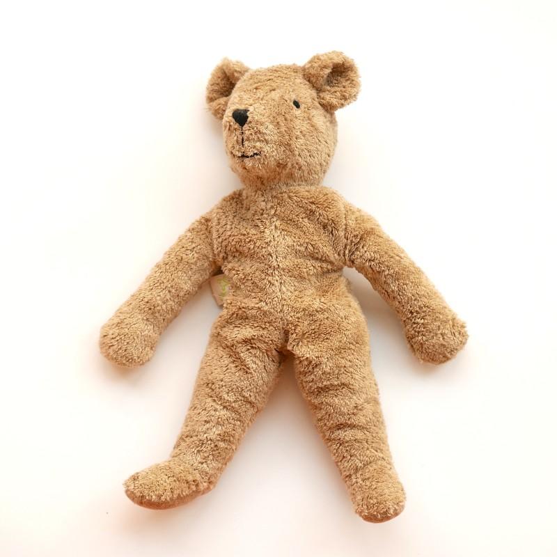 Senger - Lys brun stor bjørn i økologisk bomull og ull