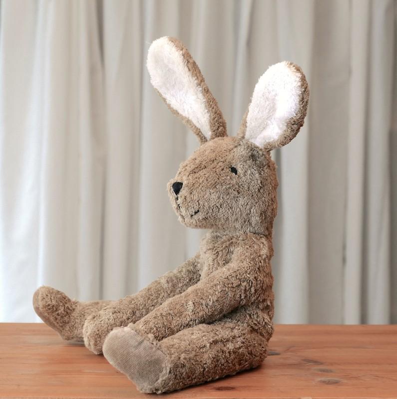 Senger - Lys brun liten kanin i økologisk bomull og ull