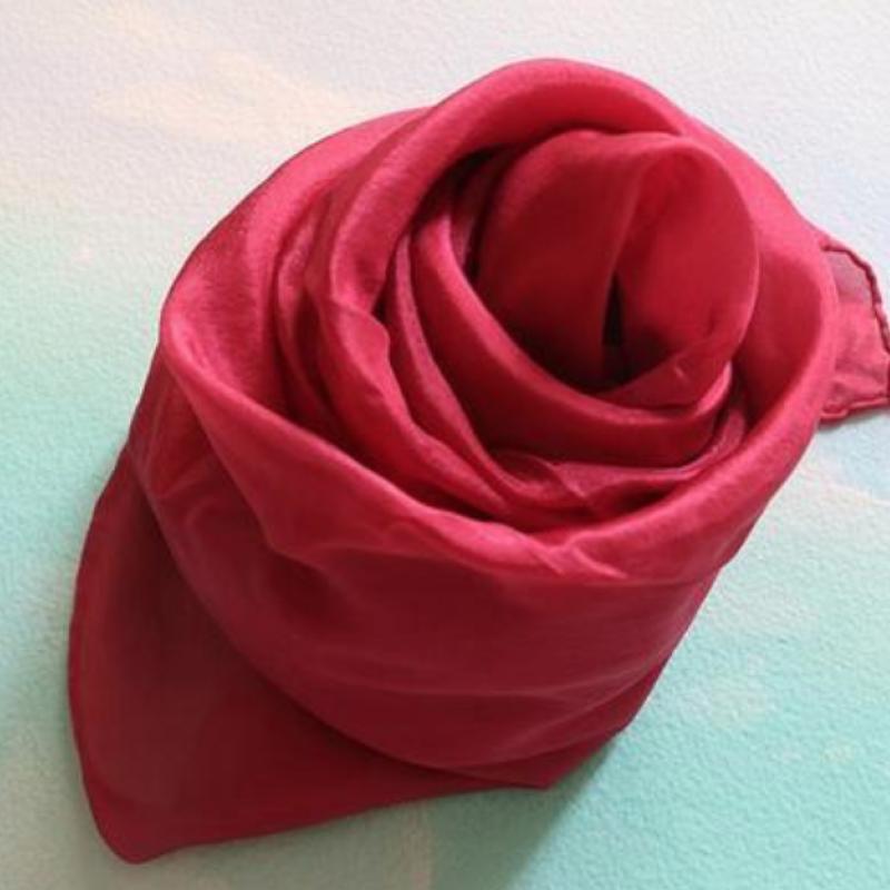 Rød fiolett lekesilke ensfarget 86cm