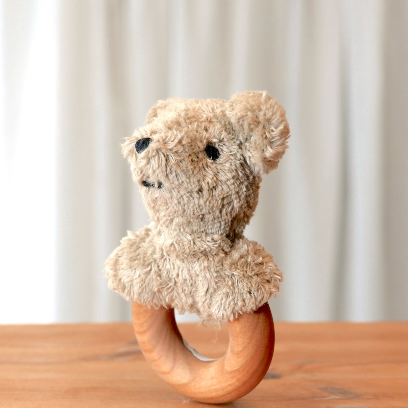 Senger - Gripeleke bjørn i økologisk bomull og ull