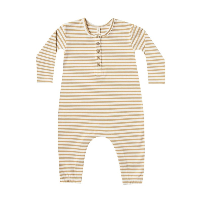 Quincy Mae - Jumpsuit Long Sleeve Honey
