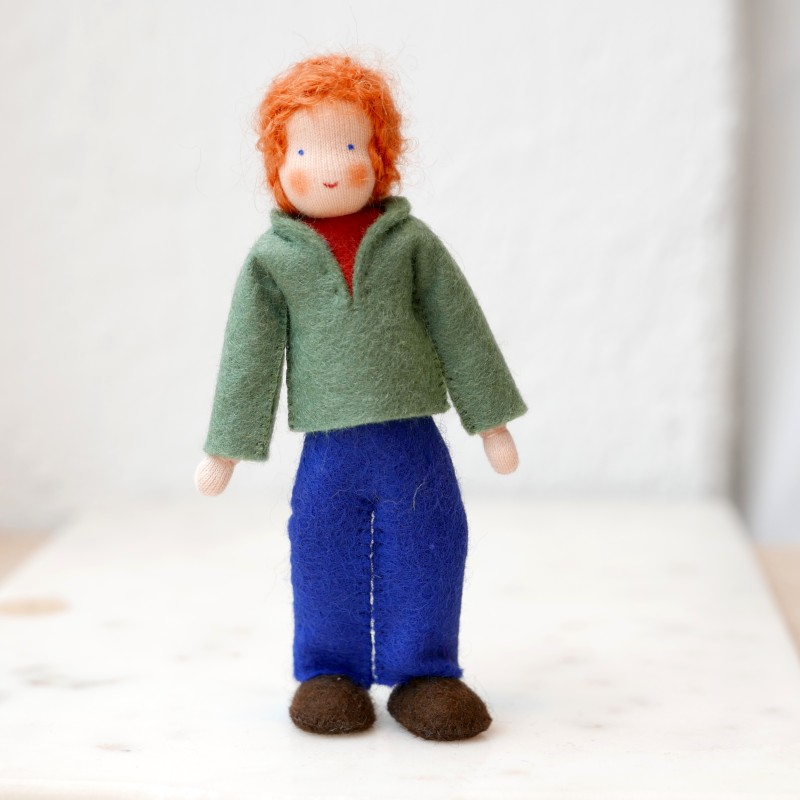 Dukkehus Mann med Rødt hår