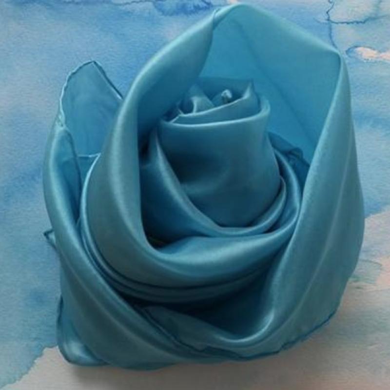 Skyblå lekesilke ensfarget 86cm