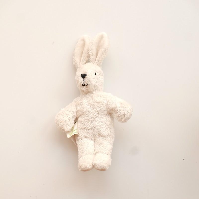 Senger - Lys mini kanin i økologisk bomull og ull