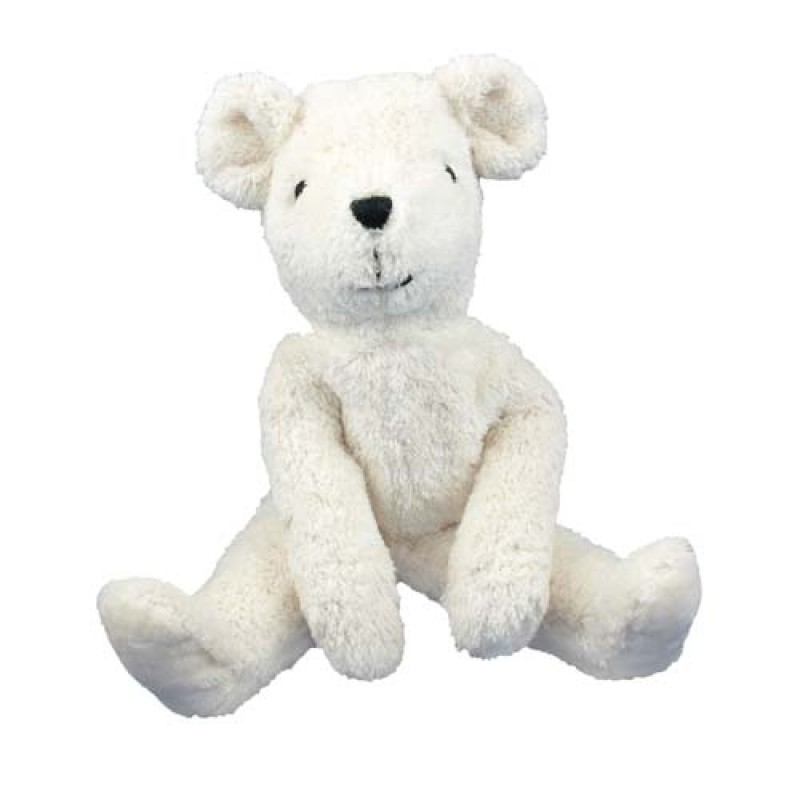 Senger - Lys stor bjørn i bomull og ull
