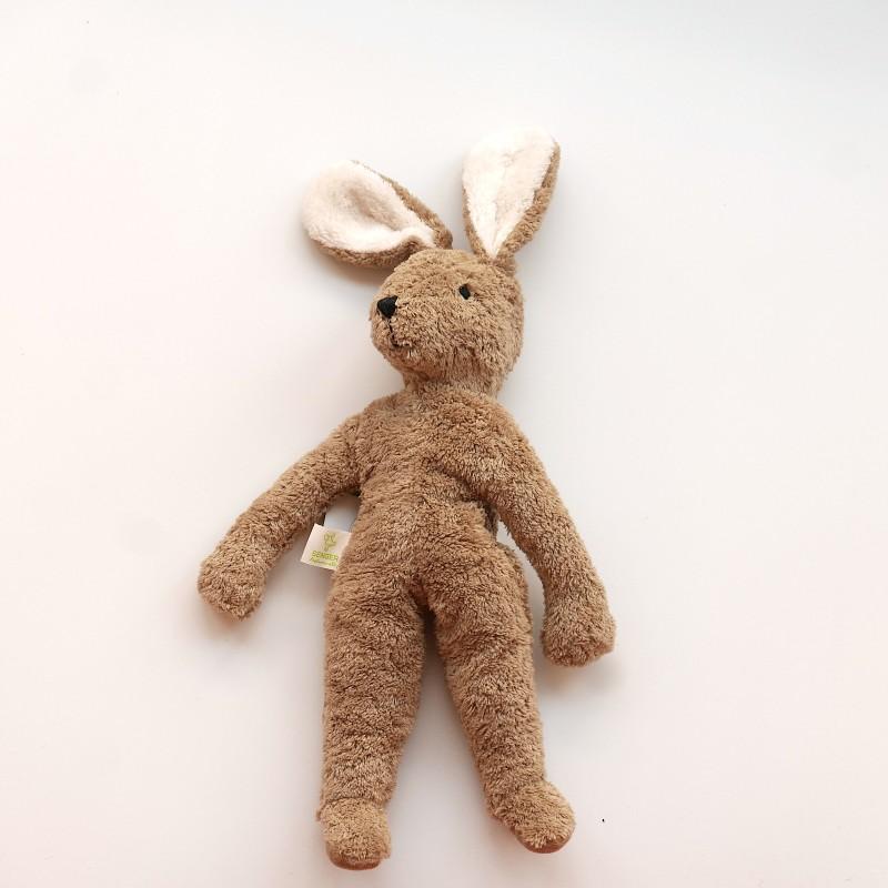 Senger - Lys brun stor kanin i økologisk bomull og ull