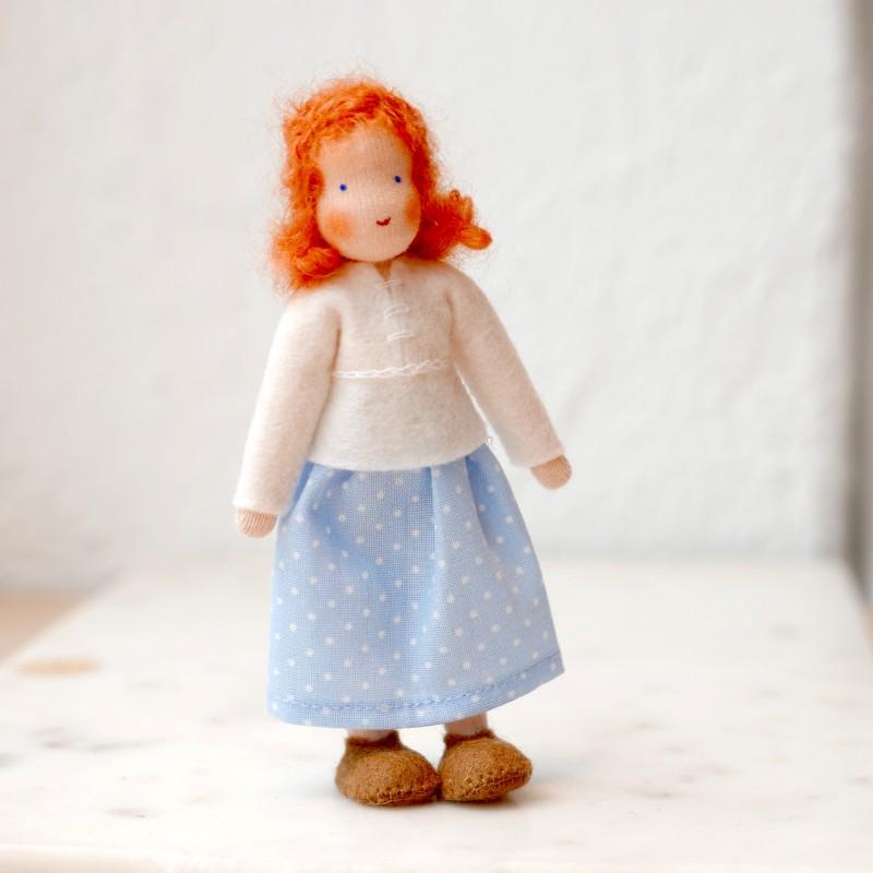 Dukkehus Dame med rødt hår