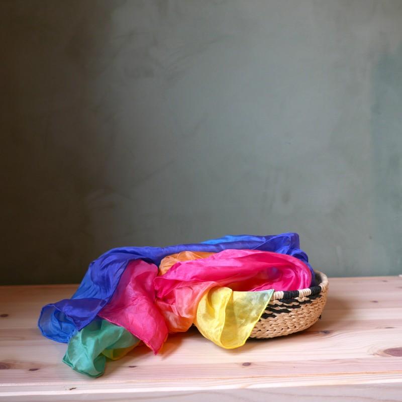 Regnbue lekesilke flerfarget 86cm