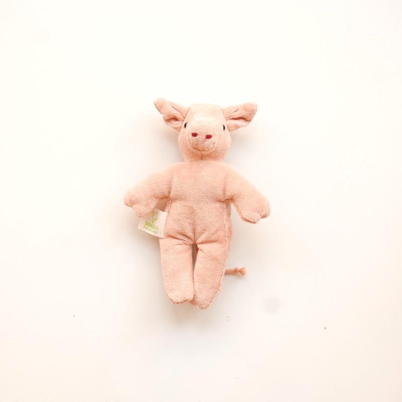 Senger - Mini gris i økologisk bomull og ull