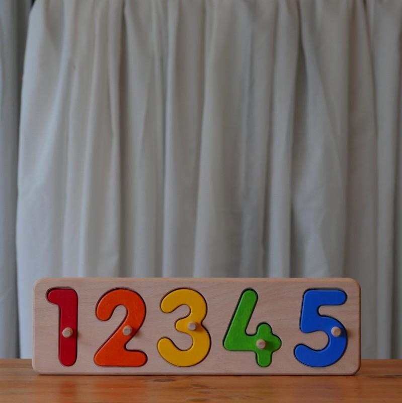 Puslespill med tall (1 til 5)