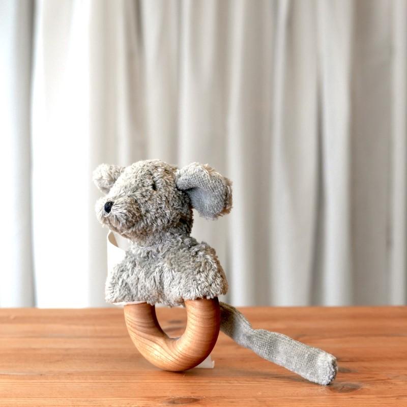 Gripeleke mus i økologisk bomull og ull