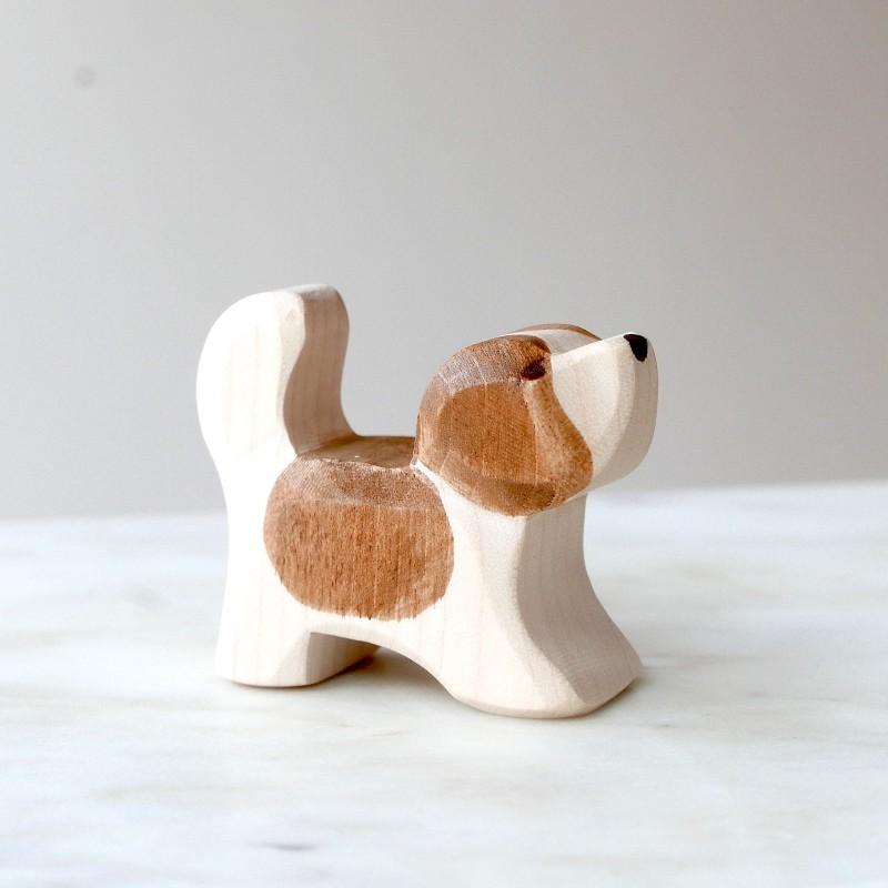 Hund i tre - St.Bernard valp - Ostheimer Trefigur