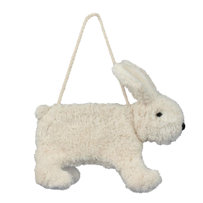 Liten hvit kanineveske