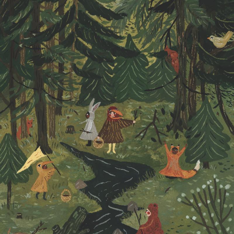 Norsk skog av Tijana Draws A3