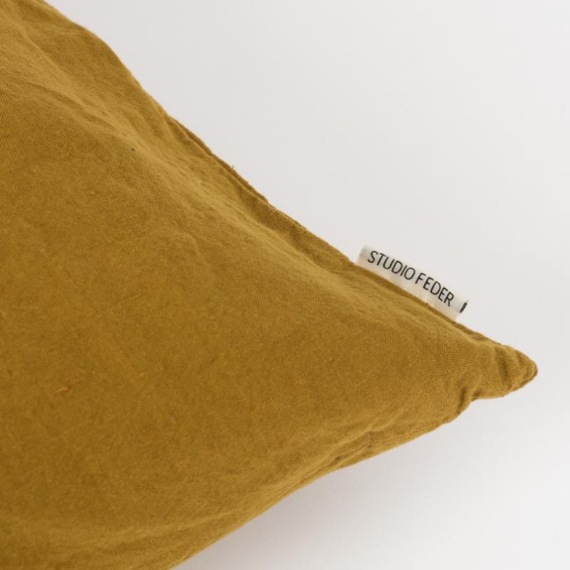 Studio Feder - Curry putetrekk lin/bomull 50x50