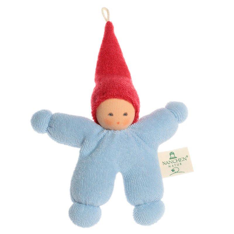 Nanchen - Blå dukke med rød lue